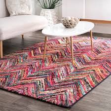 the gray barn sundance bench rainbow chevron area rug
