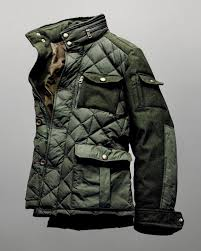 Quilted Panel Knitted Sleeves field jacket | SOLETOPIA & Quilted Panel Field Jacket men style soletopia Adamdwight.com
