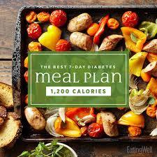 Diabetes Sample Menus The Best 7 Day Diabetes Meal Plan Eatingwell
