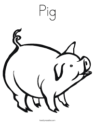 Small Picture Pig Coloring Pages Twisty Noodle