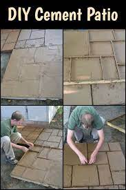 do it yourself cement patio your