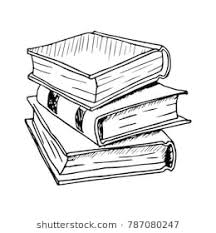 hand drawn stack of books vector ilration