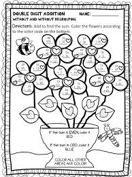 Free Color By Number Addition Worksheets Spring Addition Color By ...