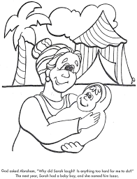 Abraham Sarah And Baby Isaac Coloring Pages Coloring Pages