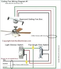 ceiling fan wiring with two switches