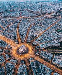 Aerial view of Paris France : CityPorn