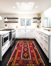 turquoise kitchen rug with contemporary and
