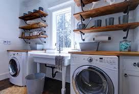 Rustic Laundry Room Shelving