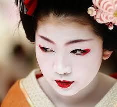 geisha makeup a geisha makeup consists of unnatural ivory white skin