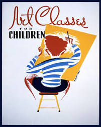 Details About Poster Art Classes For Children Boy Painting Training Vintage Repro Free S H