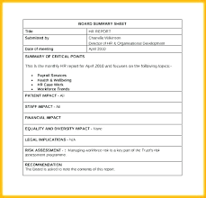 Hr Report Template Sample Of Hr Report Hr Monthly Report