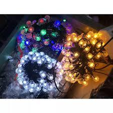 Đèn nháy bi bọt 10m trống nước đủ màu siêu đẹp - đèn nháy quả tròn trang  trí ngoài trời- đèn led chớp bi bọt trang trí ngoài trời chống nước