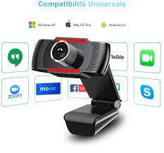 Webcam 1080P für PC mit Mikrofon, Webcam mit: Amazon.de: Computer & Zubehör