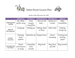 Fall Lesson Plans For Toddlers Creative Curriculum Creative Curriculum Blank Lesson Plan June