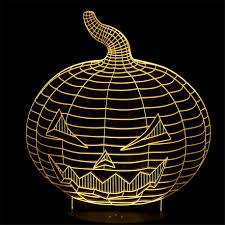 Night Lamps For Bedroom Pumpkin 3d Illusion Creative Desk Table Lamps Kids Bedroom Night