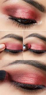 easy makeup ideas glitter red eyeshadow tutorial we cover make up ideas for beginners