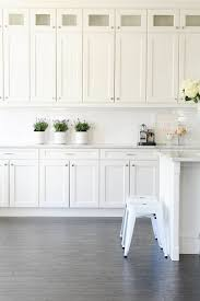 White kitchen painted in Simply White OC-117 Benjamin Moore. Monika ...