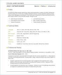 Software Developer Resume Template Resume Example