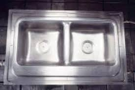 4 a aluminium mould for a double bowl kitchen sink and b