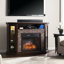douglas infrared electric fireplace entertainment center in black cs 28mm blvd faux stone corner convertible a