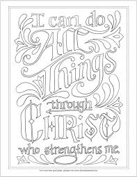 Small Picture i can do all things coloring page free printable scipture based