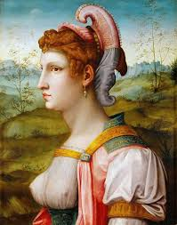 sibylle one of the most famous mannerist oil paintings painted by italian floine renaissance painter