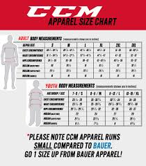 Ccm Youth Apparel Size Chart Ccm Lightweight Rink Pants