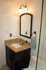 bathroom remodeling fairfax va. The Bathroom Look Was Unified With Same Backsplash And Wall Tiles. Darker Color Cabinets Floor Were Chosen To Create A Contrast. Remodeling Fairfax Va ,