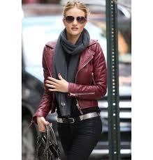 women brand rivet pu faux leather moto motorcycle jacket las zipper crop short biker coat burdy in