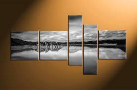 piece ocean black and white mountain photo canvas