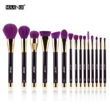 maange makeup brushes set foundation powder eyeshadow eyeliner lip contour concealer smudge brush kit purple high quality best makeup foundation brush set