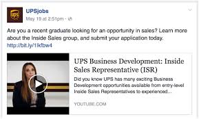 how posting jobs on facebook can tap into more candidates facebook ups job post example 2