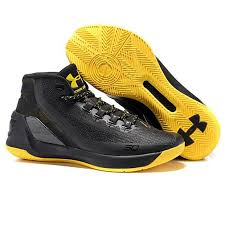 under armour basketball shoes stephen curry 2017. 2017 new under armour stephen curry 3 iii black / yellow mens basketball shoes r