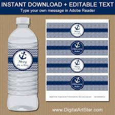 Decorating Water Bottles For Baby Shower Nautical Baby Shower Water Bottle Labels Ahoy Its a Boy Baby 60
