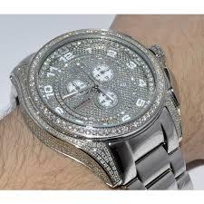 diamond watch gtx blackbird 6 5ct diamond 55mm avenger zoom
