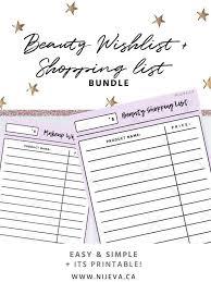 Beauty Makeup Skincare Wish List Shopping List Bundle