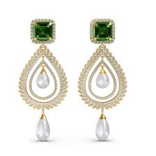 the celina chandelier earrings diamond jewellery at best s in india sarvadajewels com