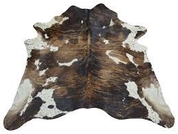 brazilian cowhide rug tricolor brindle 2 southwestern