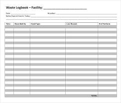 food waste logbook in pdf