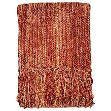 Rust Red Throw Blanket
