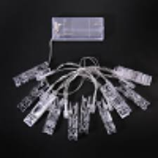 whole 1 5m mini 10 led clip string lights wedding home decoration led lights battery operated holiday party fairy lights orange led string