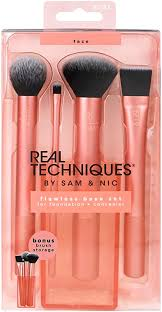 <b>Real Techniques Flawless</b> Base Makeup Brush Set for Foundation ...