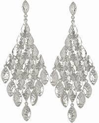 nera chandelier earrings in silver