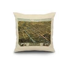 Walmart Massillon Ohio Massillon Ohio Panoramic Map 20x20 Spun Polyester Pillow Custom Border
