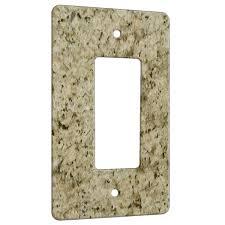granite giallo ornamental 1 gang decora rocker wall plate cover