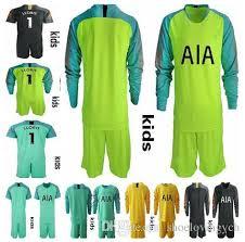 Shirt 2019 Kit Goalkeeper Son 1 Football Jersey Dele Lamela Uniforms Shoelovingych Kane Soccer Kids Long Eriksen Lloris Set From Sleeve