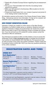 Make College Schedule Online Galevston College 2017 Spring Credit Class Schedule Page 8 9