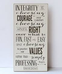 willow blush cream brown integrity wall sign on brene brown wall art with willow blush cream brown integrity wall sign truths and