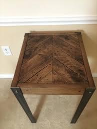 metal furniture plans. Reclaimed Pallet Chevron End Table Metal Furniture Plans