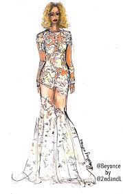 Beyonce Grammy Dress Designer Beyonce 56th Grammys Gown Michael Costello X Water Color
